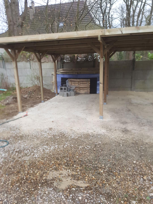 Menuiserie pose de carpot – Garage extérieur